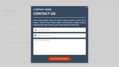 Layered Popups - Contact Form Popup #04