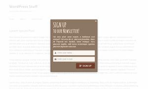 Layered Popups - Subscription Form Popup #18