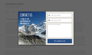 Layered Popups - Contact Form Popup #11