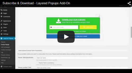 Subscribe & Download - Layered Popups Add-On