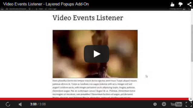 Video Events Listener - Layered Popups for WordPress Add-On